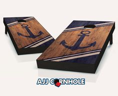 "$160 ""Anchor"" Cornhole Set Product Details | AJJ Cornhole"