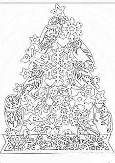 Одноклассники Christmas Stencils, Christmas Crafts, Christmas Decorations, Xmas, Kirigami, Paper Ornaments, Scroll Saw, Big Shot, Paper Cutting
