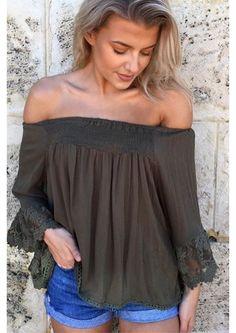 Online Boutiques, Off Shoulder Blouse, Pretty, Tops, Women, Fashion, Moda, Women's, Fashion Styles