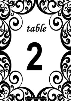 1000 images about free printables on pinterest lemonade for Table number design template