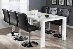 CAVA-ruokailuryhmä (CAVA-pöytä 180x90cm+6 PIANO-tuolia musta) - Ruokailuryhmät ja pöydät | Sotka.fi