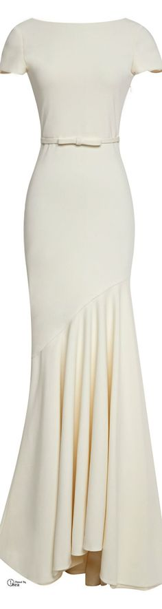 Simple elegance - Katie Ermilio FW 2014 Scoop Back Gown