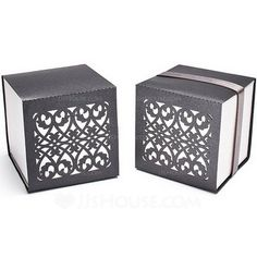 [AU$ 12.00] Chic Chinese Style Cubic Favor Boxes With Ribbons (Set of 12) (050025741)
