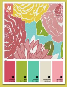 Lilly Pulitzer Inspired Colors.  Available @ General Paints.