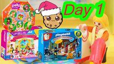 Polly Pocket, Playmobil Holiday Christmas Advent Calendar Day 1 Toy Surp...