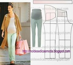 Materiales gráficos Gaby: Pantalón para embarazadas costura fácil