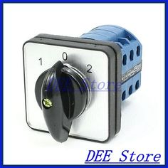 Electric 1-0-2 3 Position 12 Terminals Rotary Cam Changeover Switch 380V 20A #Affiliate