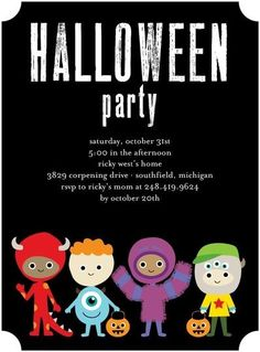 Turn your kid's Halloween party into a monster mash with this adorable animated invitation.