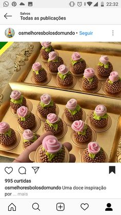 Creative Desserts, Creative Cakes, Dessert Buffet, Candy Buffet, Mini Desserts, Delicious Desserts, Cake Pops, Chocolate Flowers Bouquet, Bakery Cafe