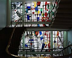 Georg Meistermann (1911-1990), WDR, Stairwell, Cologne, Germany.