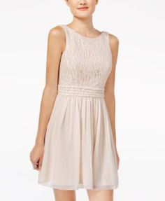 Speechless Juniors' Glitter Lace Party Dress A Macy's Exclusive | macys.com