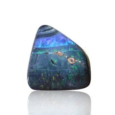 Solid Boulder Opal with Green, Blue & Red Colours