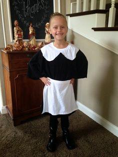 Right at Home: { Last Minute-1 Minute-No Sew Pilgrim Costume }