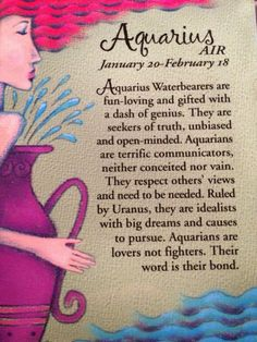 Aquarius.  Hey, I figured I'd Jump on the bandwagon! CM, ST  JF