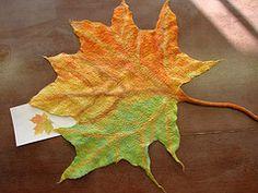 #tutorial #felt #leaf #felting