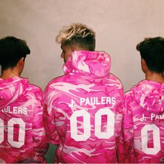 "ONLY 1 DAY LEFT TO ORDER AND BE A PART OF THE NEXT SHIPMENT! In honor of Jake Paul's birthday, Jake created this one-of-a-kind ""J. Pauler"" pink camo hoodie that"