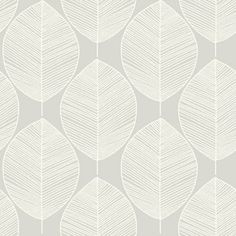 Arthouse Retro Leaf Wallpaper - Silver at Homebase -- Be inspired and make your house a home. Buy now.