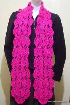 Free crochet pattern: Gina crochet scarf (with photo tutorial)