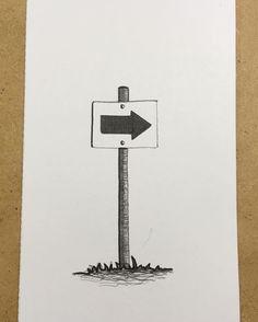Onward! #drawing #illustration #art #sign #direction