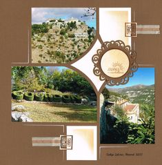 GOURDON Diy Scrapbook, Scrapbooking Layouts, Fairy Stencil, Stencils, Mandala, Projects To Try, Gallery Wall, Photos, My Love