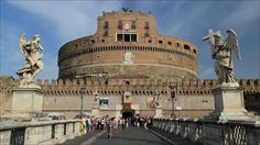 Sant'Angelo bridge on the Tevere river with Castel Sant'Angelo - Rome - Italy
