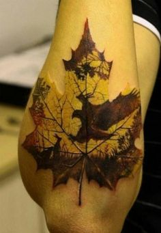 I feel like Ryan would like this leaf tattoo :)