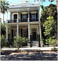 Historic home on cobblestone street near Coliseum Square in the Lower Garden District.