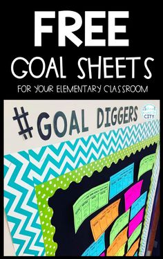 FREE goal setting sheets for your elementary classroom! School Goals, Student Goals, Student Motivation, School Ideas, Goal Setting For Students, Elementary Goal Setting, Online School Supplies, Visible Learning, Reflective Learning