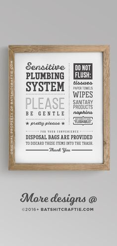 Bathroom Sign Septic System Do Not Flush Toilet Sign