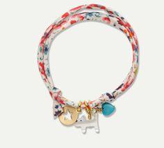 Liberty Print Bracelet - Cat Charm #MarieChantal