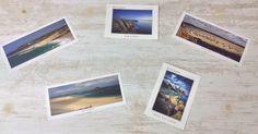 Cartes postales sur le Cap Fréhel, le Fort La Latte, l'îlot Saint Michel. Réalisation de Didier Thomas et Philippe Manguin. © Office de Tourisme du Pays de Fréhel. En vente à 2€