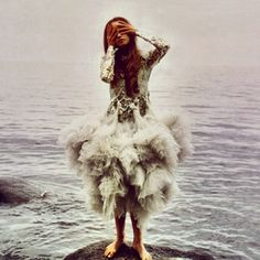 Is it weird that I want a  wedding dress exactly like this? Sea and everything? -Emily T.