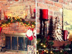 Jennifer Lutz's Rustic Christmas Mantel
