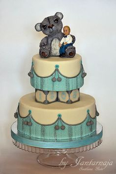 Great  detail work! ~ Baby Boy Birthday Cake   ~ hand molded and designed ~  all edible