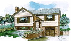 Contemporary-Modern House Plan with 924 Square Feet and 3 Bedrooms from Dream Home Source | House Plan Code DHSW03943