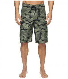 Quiksilver - Manic Camo 22 Boardshorts (Forest Night) Men's Swimwear