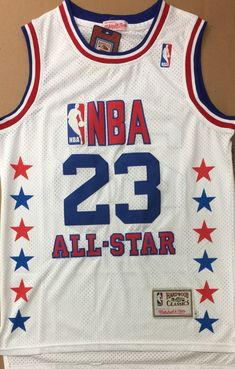 Brand New NBA Michael Jordan 1990 East All-Star Game White Jersey 5014aae7d
