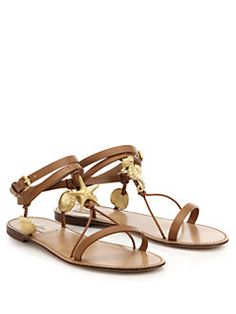 Valentino - Abyss Seashell Leather Sandals 2015