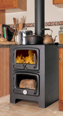 wood stove/oven - perfect for a micro home!
