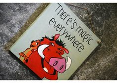 There's Magic everywhere Wooden Signs With Quotes, Motivation For Kids, Cinema, Snoopy, Hand Painted, Magic, Painting, Fictional Characters, Art