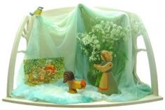 Small: 48x26x30cm.Large: 64x32x40cm.These items offer a scenery to create a nature table or home altar. You can put them on a shelf or hang them on the wall by two masked hanging rounds in the back plate.