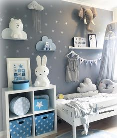 Blaues Jungenzimmer mit Sternen und Wolkenregalen Blue boys room with stars and cloud shelves. Blue boys room with stars and cloud shelves. The post. Blue boys room with stars and cloud shelves appeared first on baby room. Baby Boy Room Decor, Baby Room Design, Baby Boy Rooms, Baby Bedroom, Baby Boy Nurseries, Nursery Room, Kids Bedroom, Bedroom Decor, Room Baby