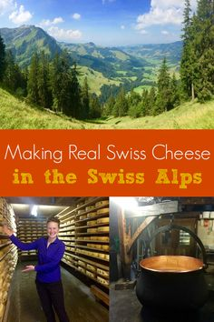 Learning how they make Swiss cheese in Switzerland. A scenic hike through the Swiss alps and visit to a family-run cheese farm in Switzerland.