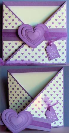 Making a Criss Cross Card | Criss Cross Purple Hearts- for inspiration!