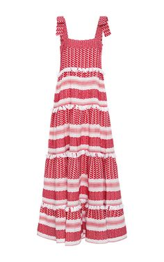 Cotton Amal Tiered Maxi Dress by DODO BAR OR Now Available on Moda Operandi