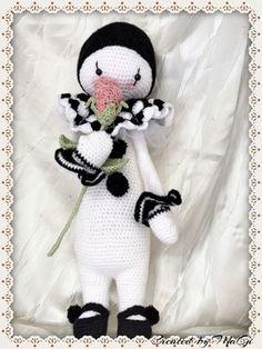 Pierrot the Fantastic Clown    Lalylala  by CreatedbyMaGi on Etsy