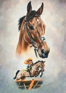 A Study Of Thistlecrack | Racing Prints | Caroline Cook Artist