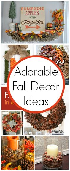 September 22nd is officially the first day of Fall!!! YAY! Fall is by far my favorite season! I really love everything about it. Especially the weather and the food! Apple Cider, Pumpkin everything, steamy soups, oh my! Here are 10 Super Cute Fall Decor Ideas - Classy Clutter