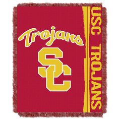 USC College 48x60 Triple Woven Jacquard Throw - Double Play Series