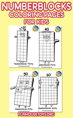 Have some fun with our collection of numberblocks printables. Find Printable Coloring Pages from Numberblocks here. Cool Coloring Pages, Printable Coloring Pages, Coloring Pages For Kids, Toddler Crafts, Toddler Activities, Fun Printables For Kids, Learn To Count, Toy House, Preschool At Home